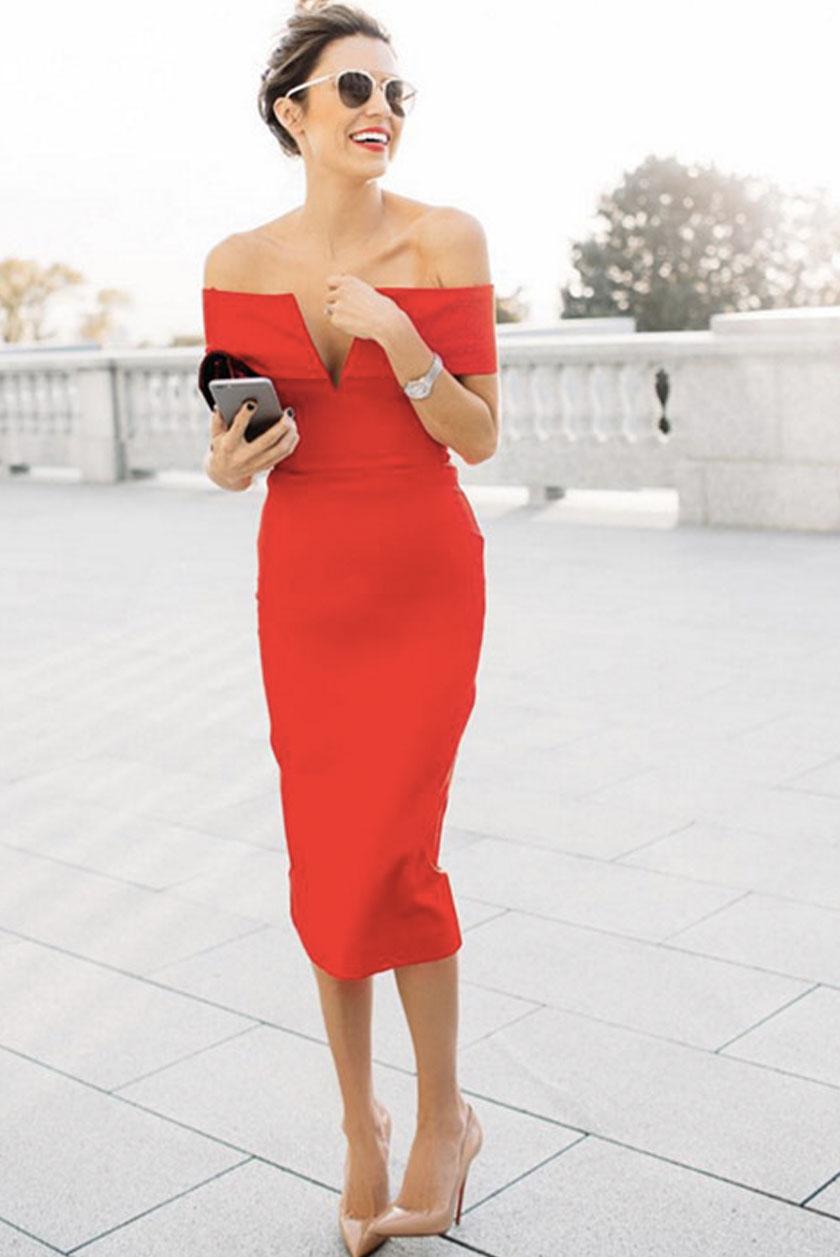 Бандажные платья с чем носить
