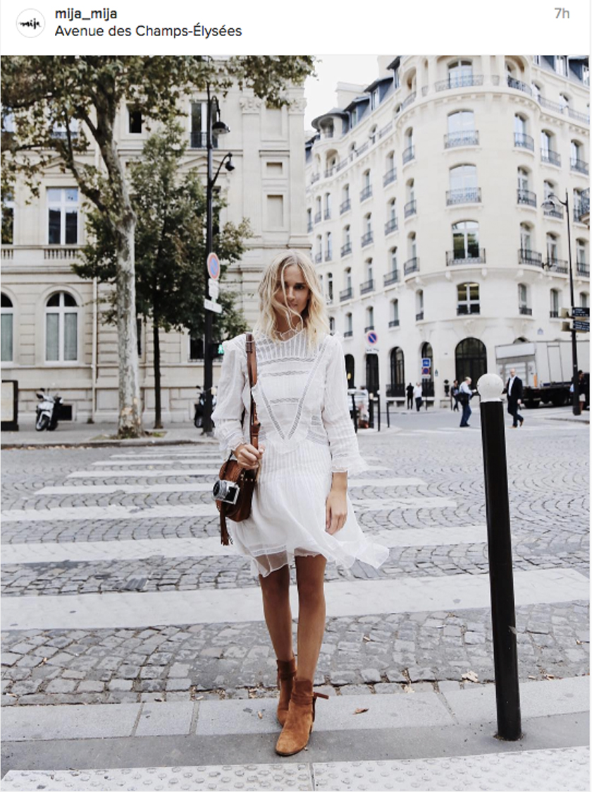 White boots with dress