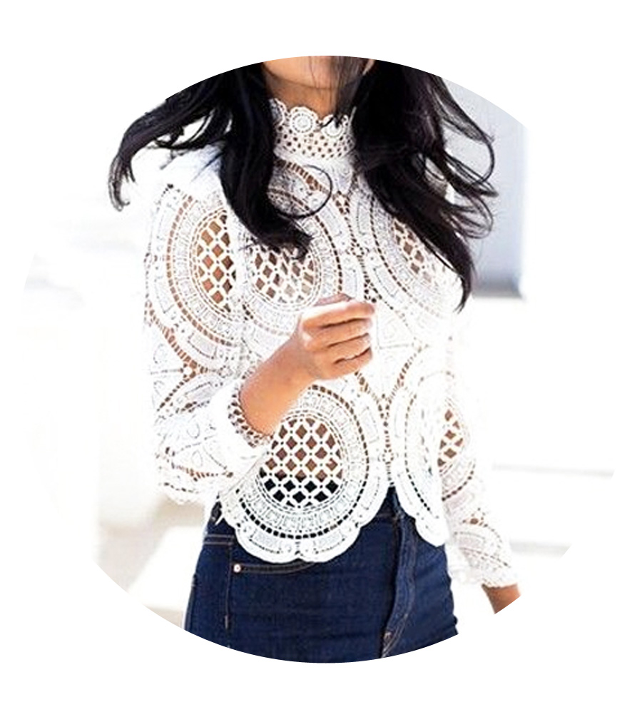 Go with a romantic lace top over flare leg jeans.