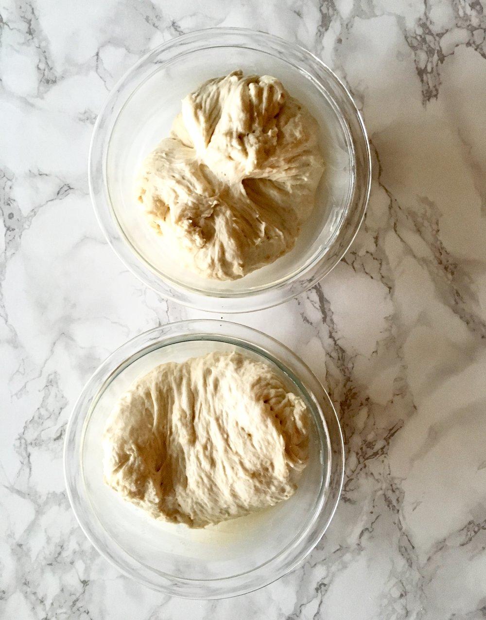 Pop each dough in it's own little bowl home