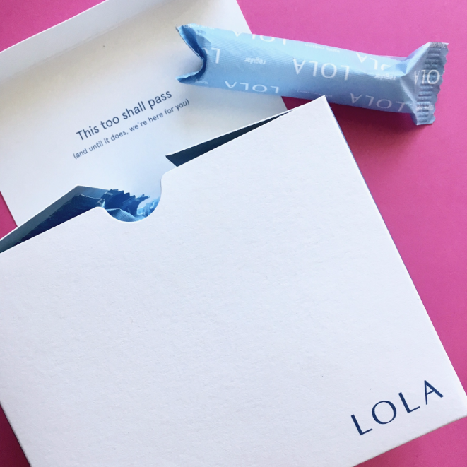 I review Lola 100% organic cotton tampons and feminine care products