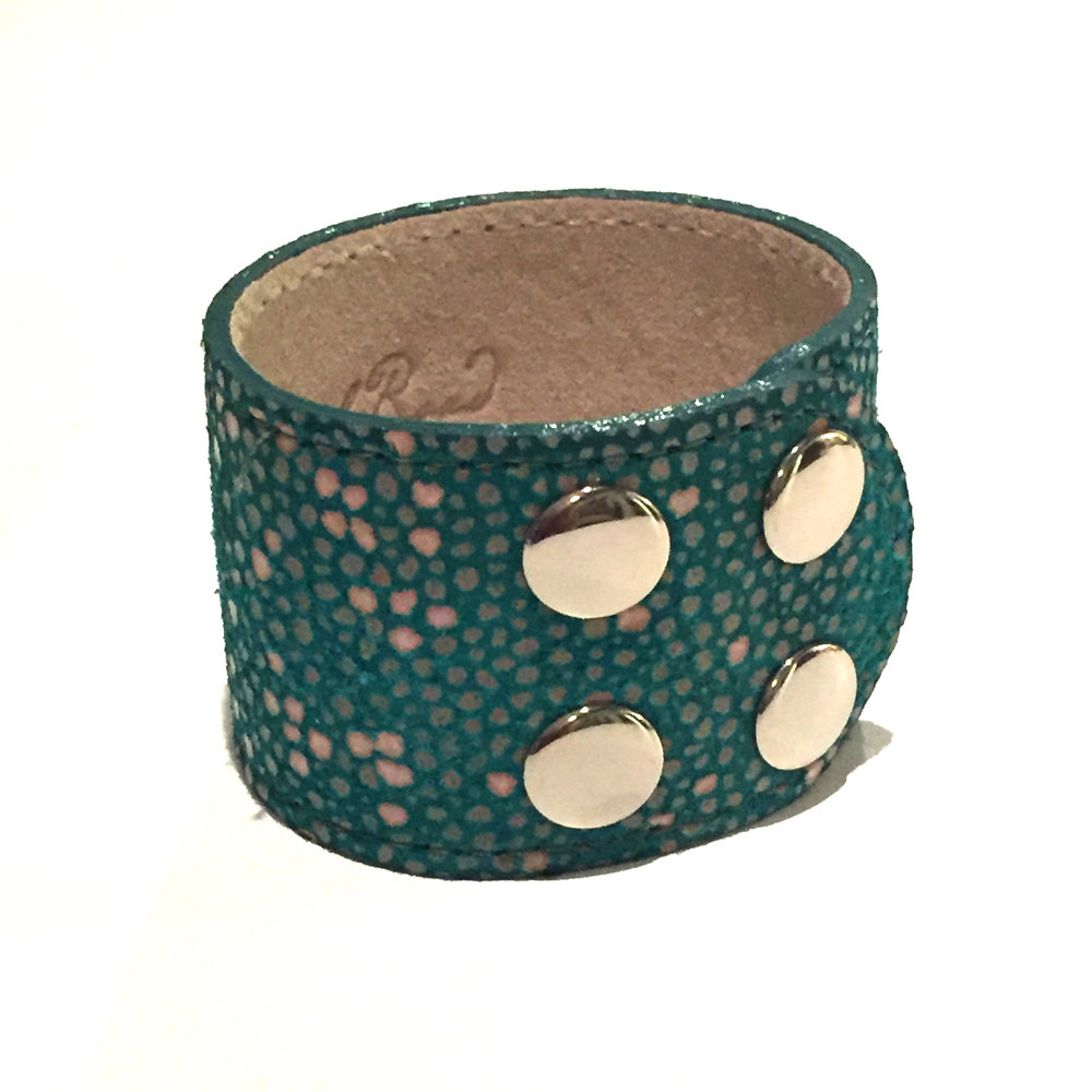 Ventura Leather Cuff in Oceana