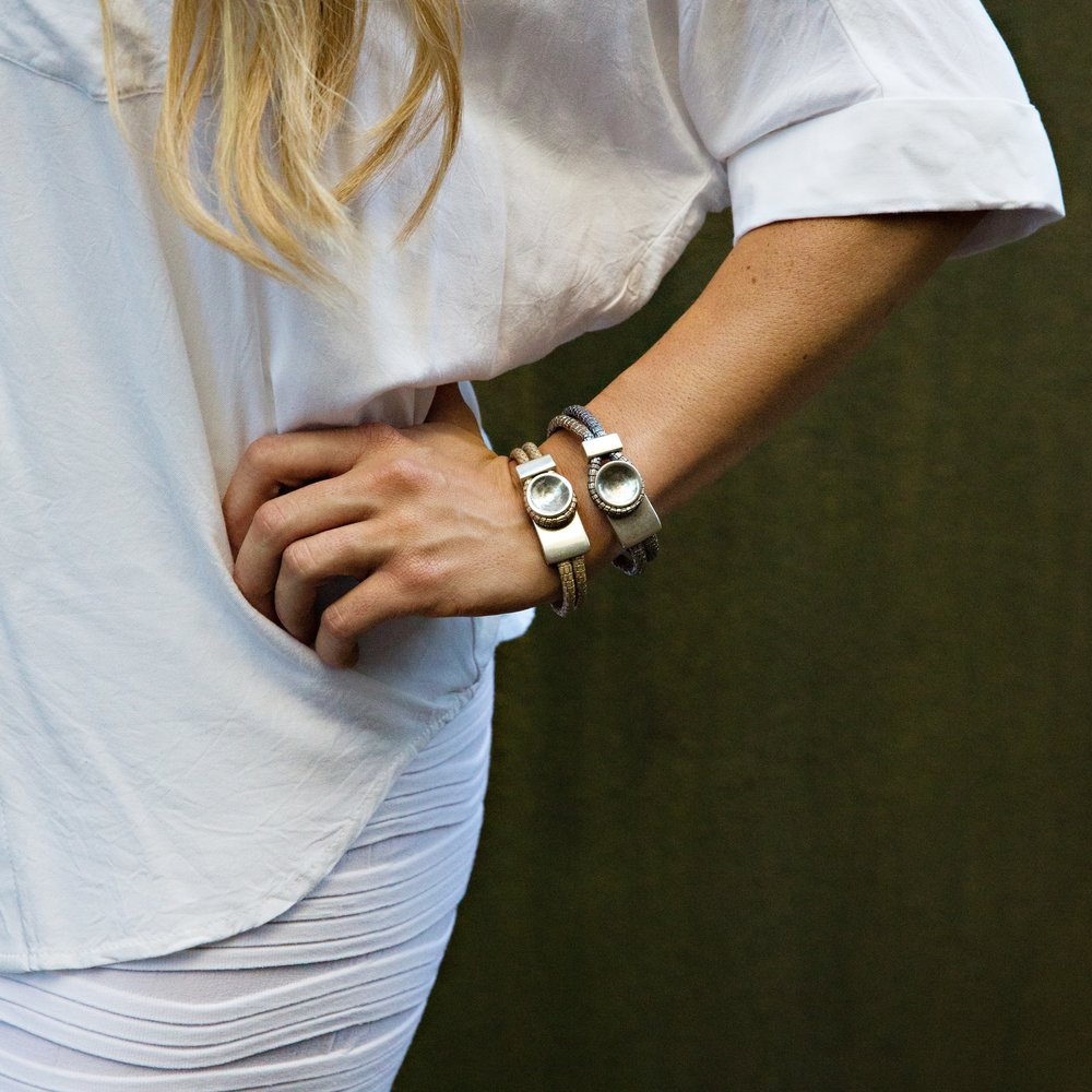 Metallic Button Bracelet