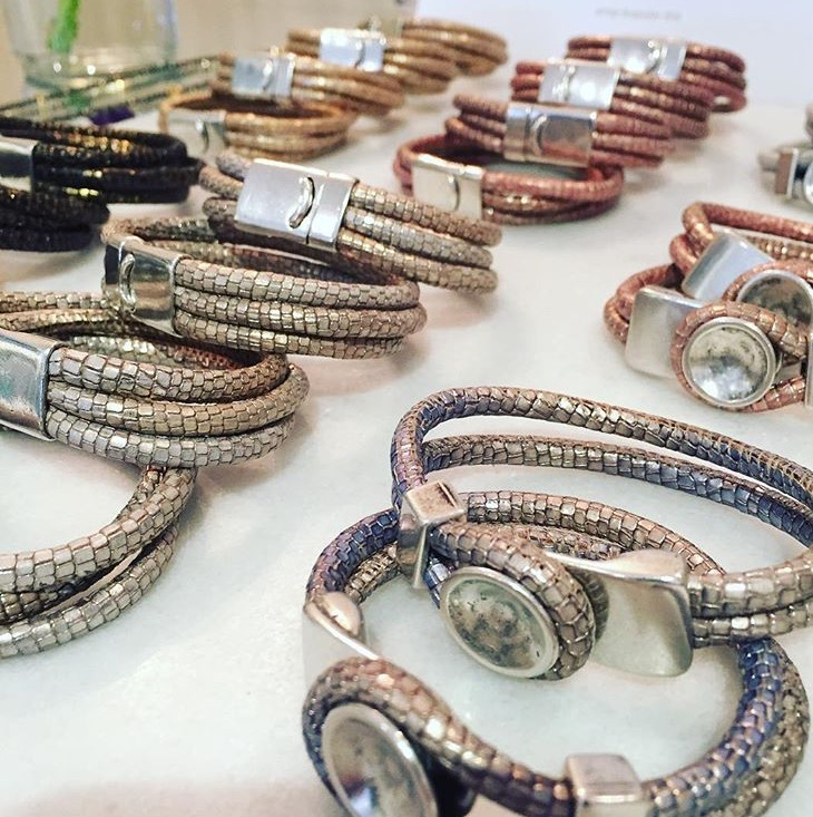 Metallic Leather Bracelet Collection