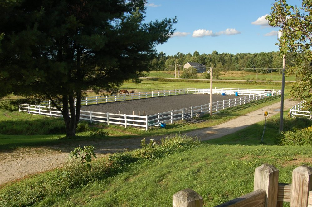The riding arena