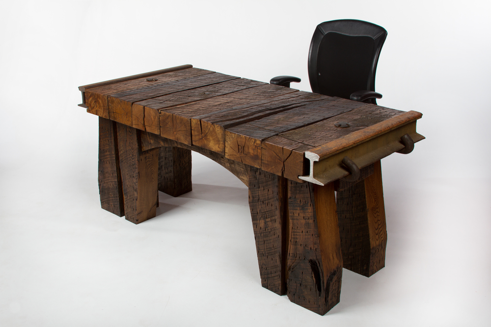 Timbertop Desk from Rail Yard Studios