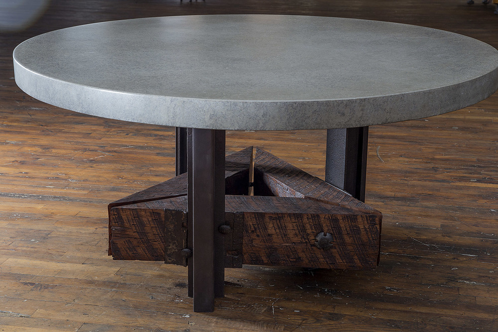 Triangle Dining Table w/ Concrete Top