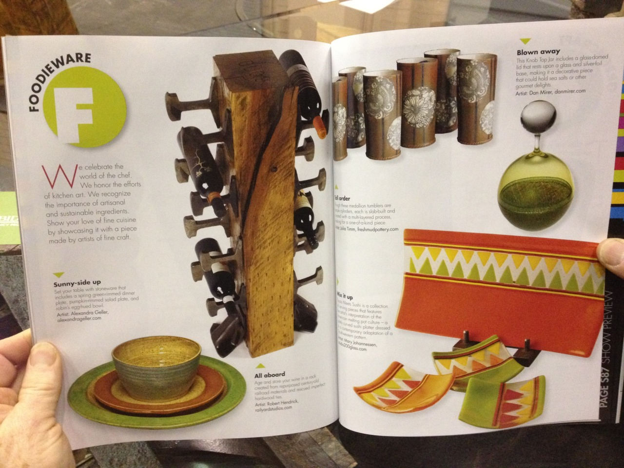 Atlanta - you like us! You really like us! Got some great press while we there.  Thanks to The American Craft Magazine (Feb/Mar 2012 edition)!