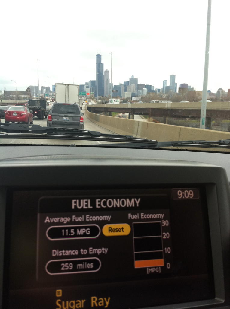 Chi-town. Better mpg this AM.