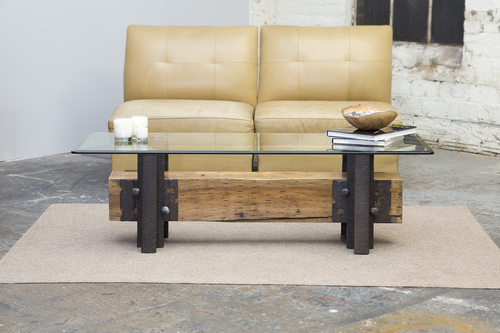 Double Track Coffee Table - Double Track Coffee Table - Custom Furniture Nashville - Artisan