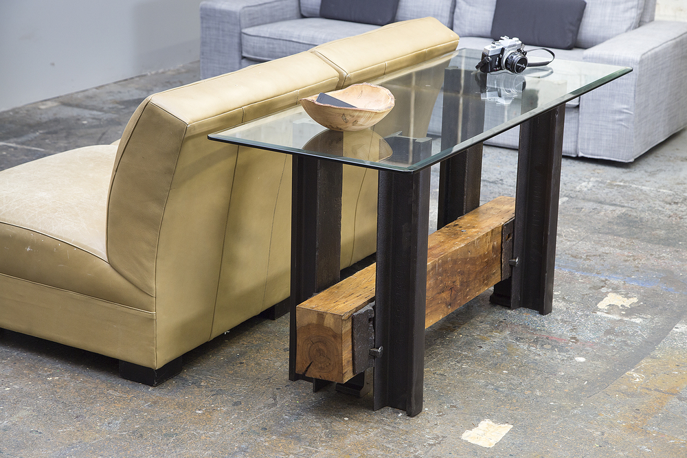 Double Track Sofa Table from Rail Yard Studios