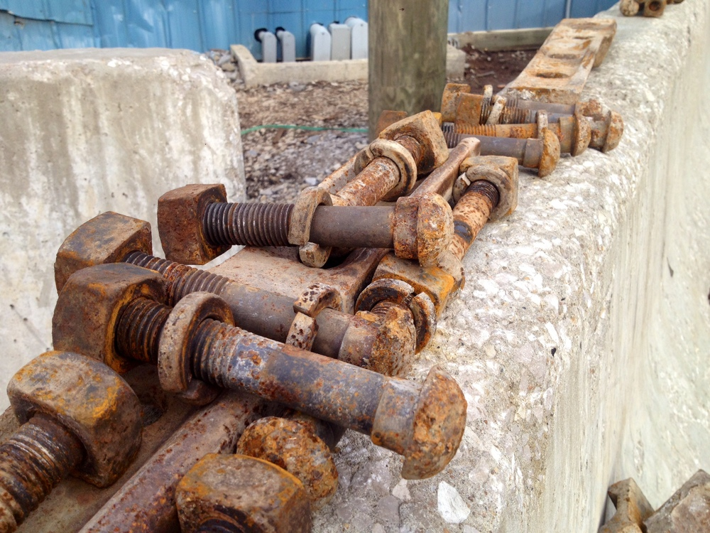 old bolts from Rail Yard Studios
