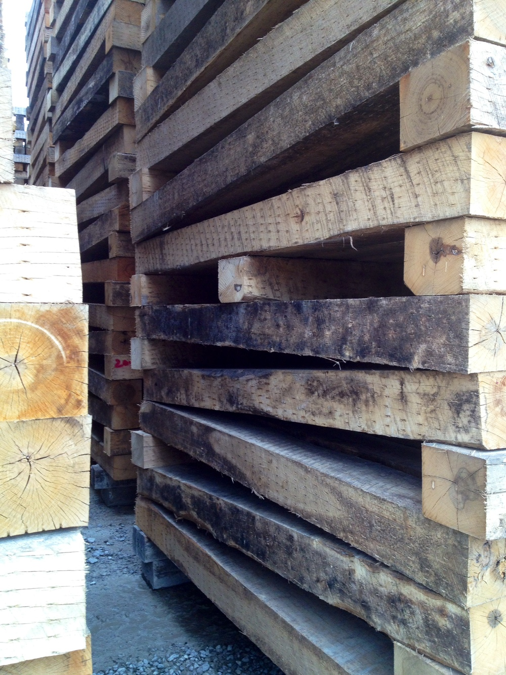 raw timbers from Rail Yard Studios
