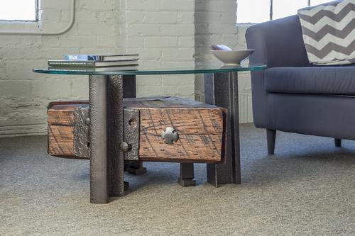 Triangle Coffee Table - Triangle Coffee Table - Custom Furniture Nashville - Artisan