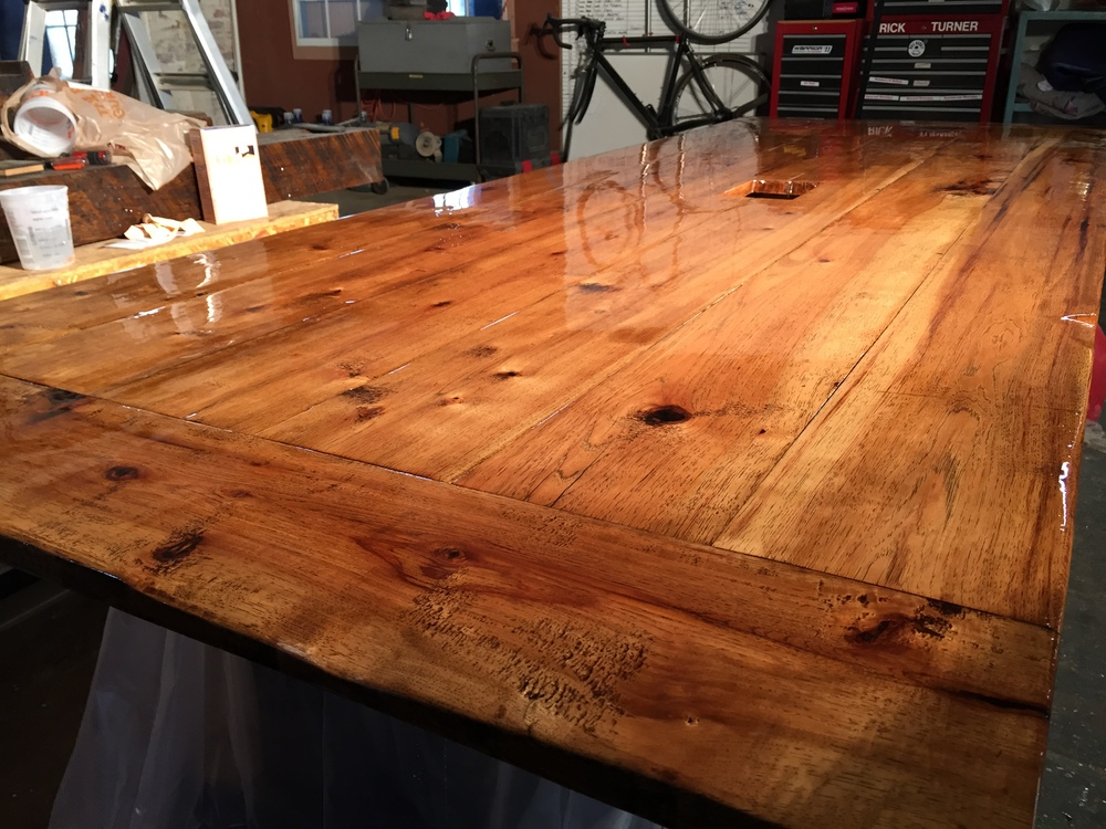 Hickory tabletop from Rail Yard Studios