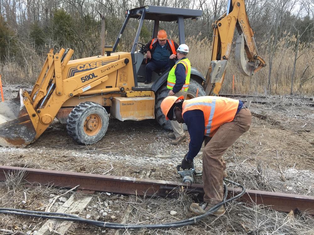 Modern railroader at work at Rail Yard Studios