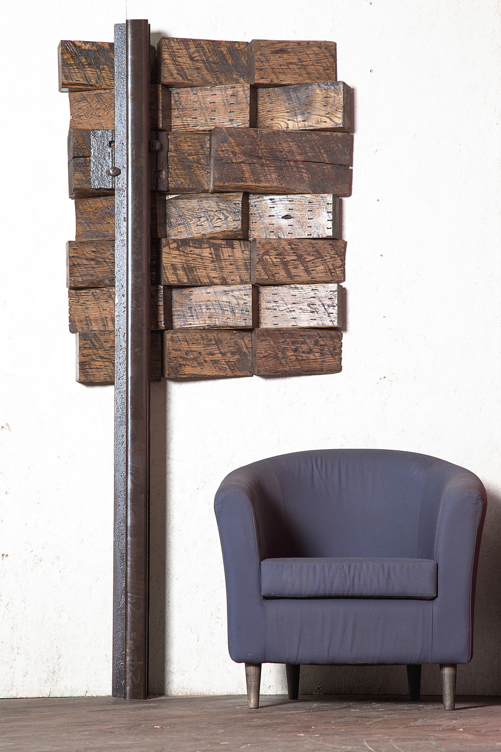 Timber and Railroad Steel Wall Art from Rail Yard Studios