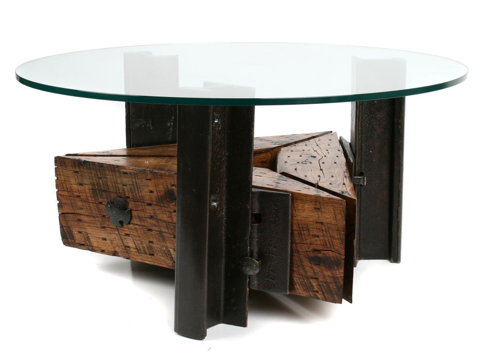 Triangle Coffee Table from Rail Yard Studios