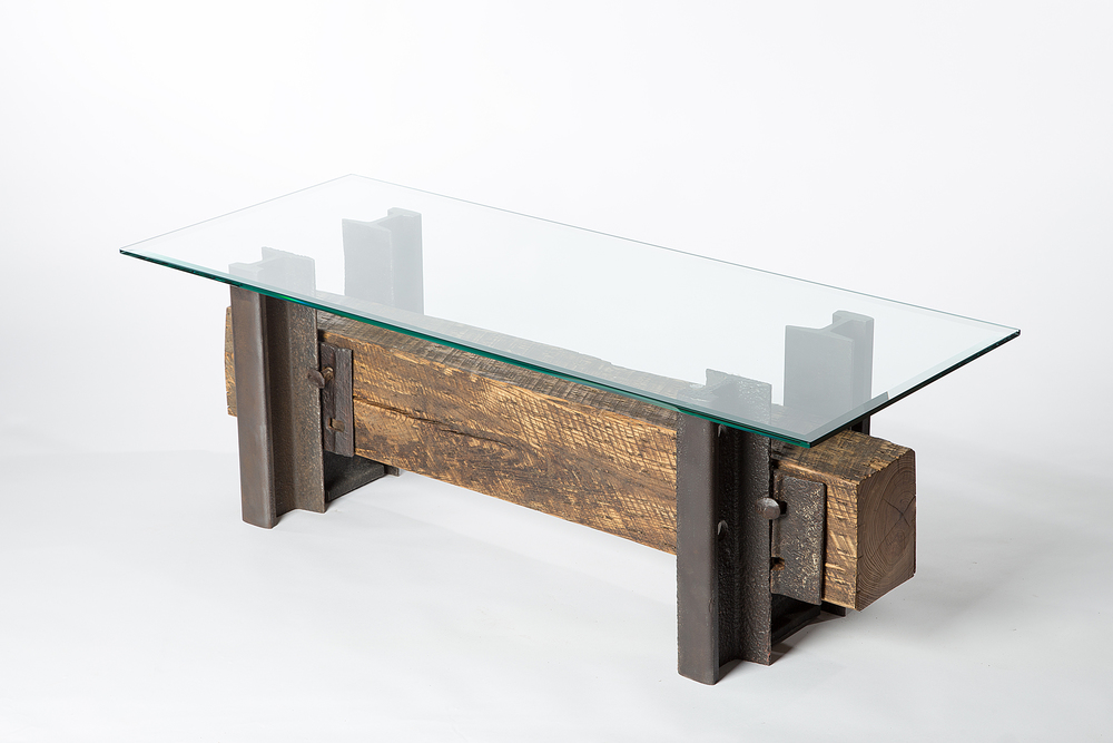 ... Double Track Coffee Table from Rail Yard Studios ... - Double Track Coffee Table - Custom Furniture Nashville - Artisan