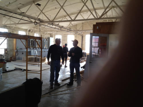 Robert and Rob Cleaning Up the original space at Rail Yard Studios