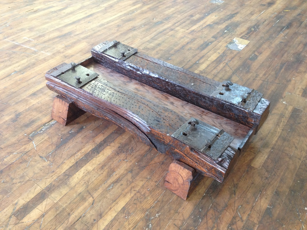 Place Tray Between Timbers