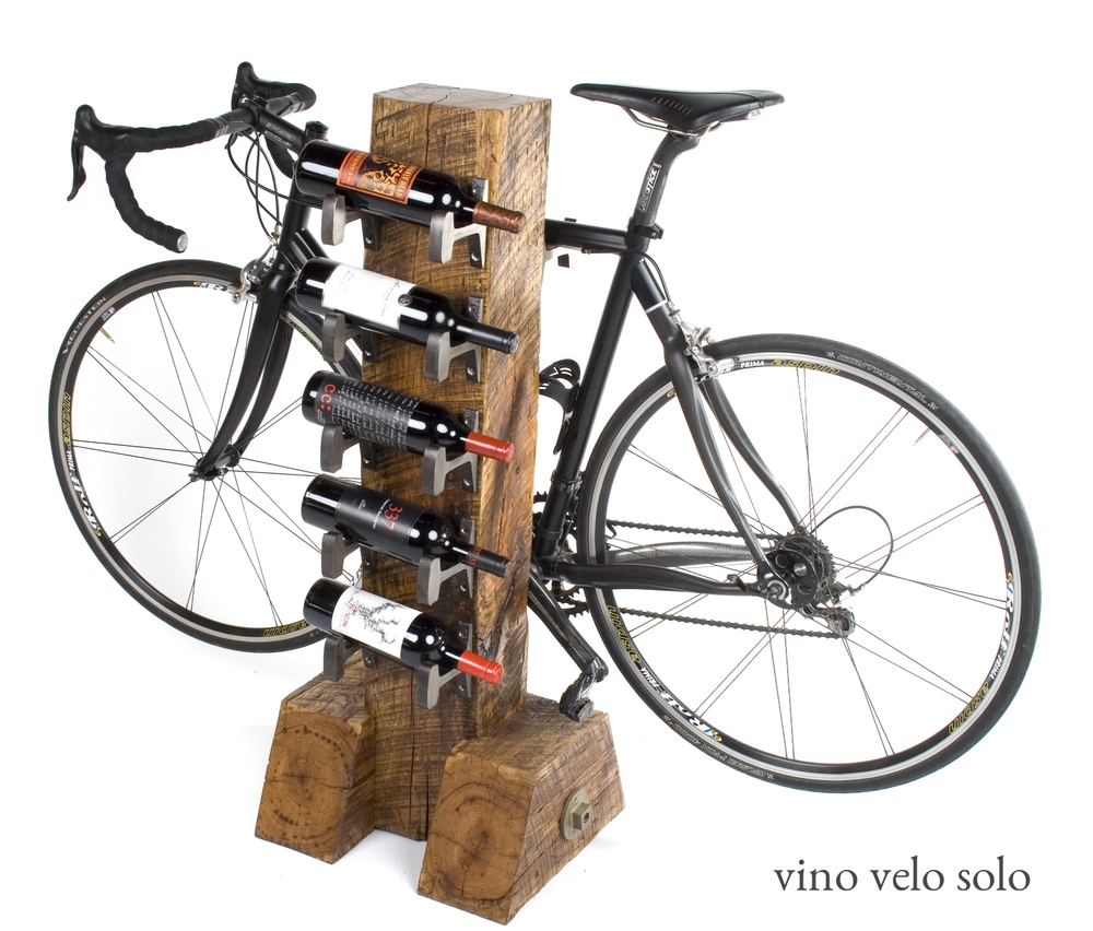 Bike Wine Rack 5 Bottle Vino Velo In Golden No 31 Custom