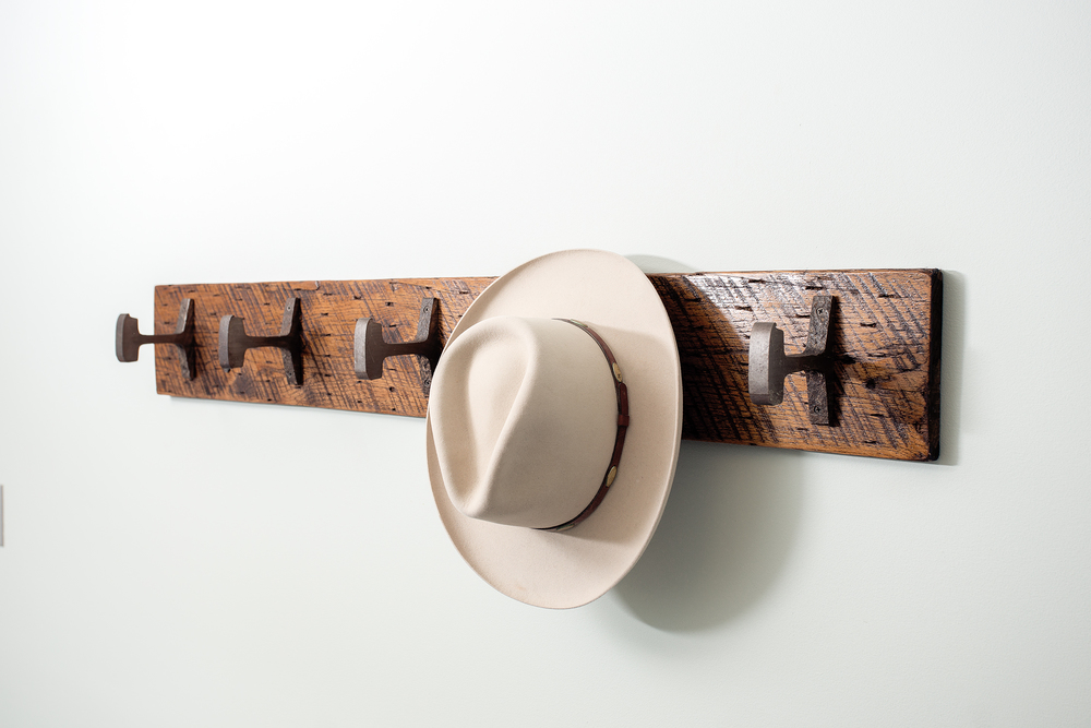 white-stetson-wall-mount-hat-rack-reclaimed - Wall Mounted Hat Rack Cymun Designs