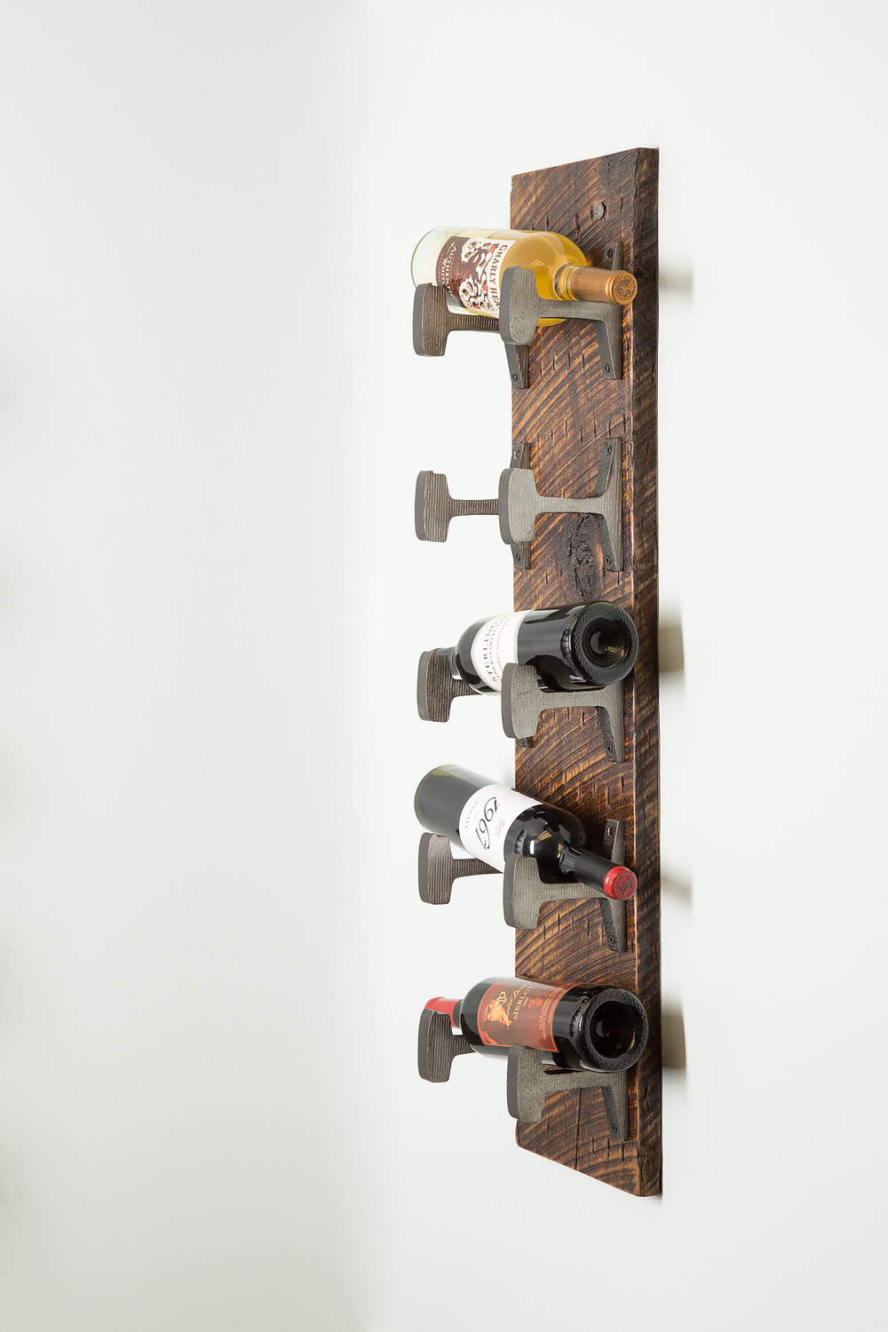 Decor and art custom furniture design nashville artisan designed wall mount wine rack 41 1g amipublicfo Gallery