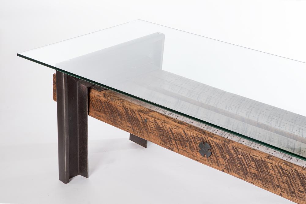 ... Wrap Around Leg Bench Table Glass 1 ...