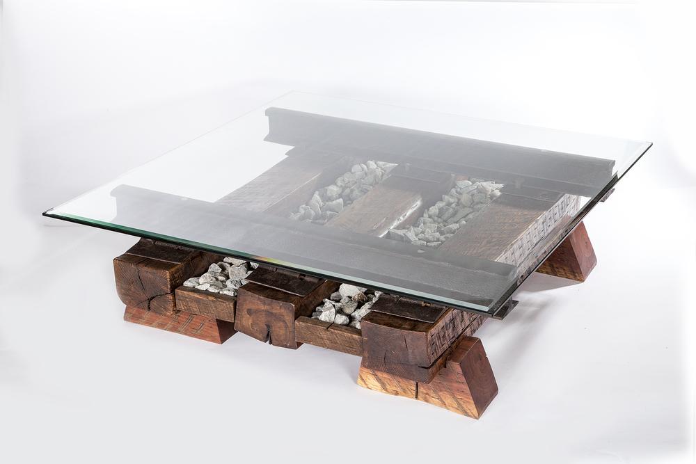Three Timber Sleepers Coffee Table