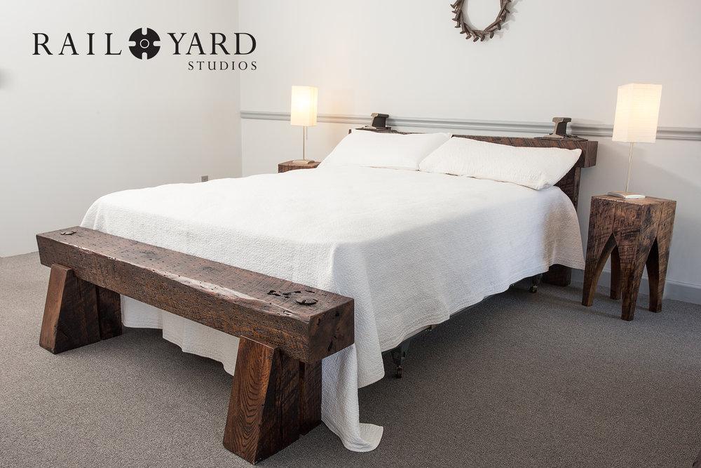 custom-bed-bedroom-suite-white-distressed-wood-steel-rail-yard-studios