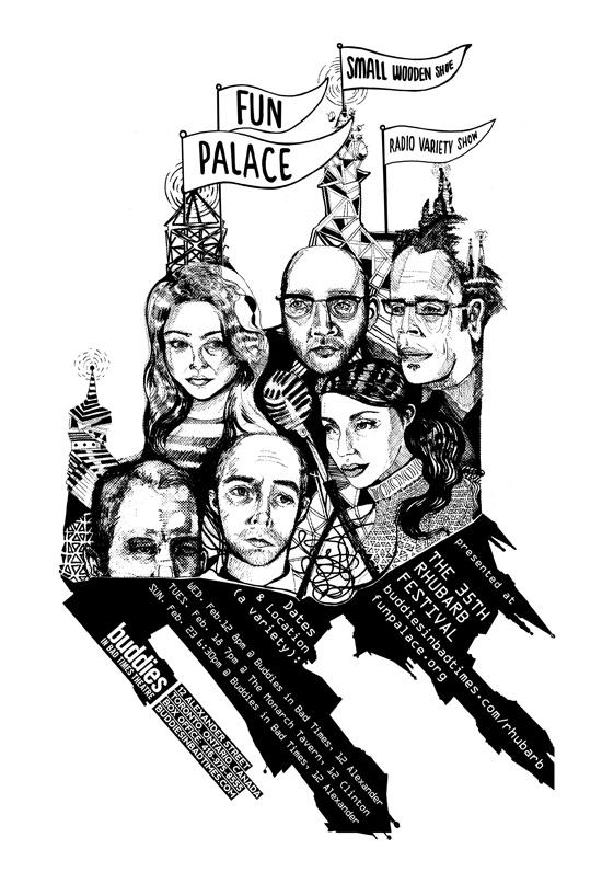 Fun Palace poster by Shea Chang and Jon Todd