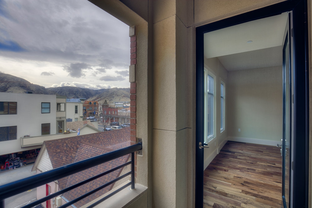 MINERS POINT  | 701 12th Street | Balcony View from Great Room| Sold & Occupied Unit