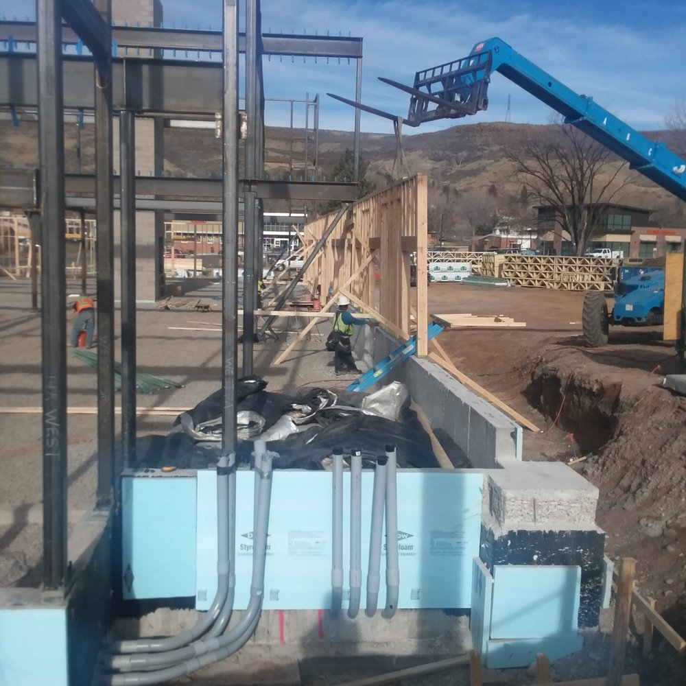 FOSSIL POINT | 615 24th Street | Golden, CO | Columns ,Beam Work & Framing Continues