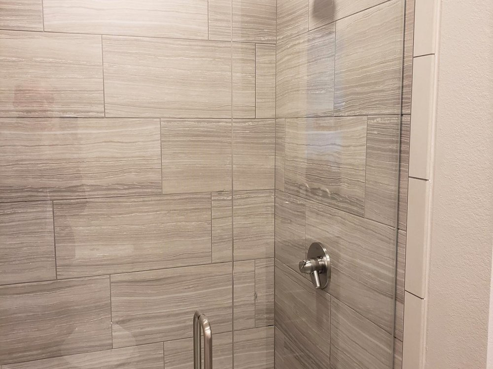 Showers With Designer Subway Tile