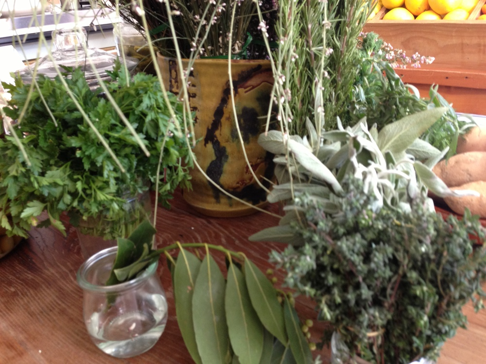 Display of fresh herbs at Cookbook in Echo Park, Los Angeles.