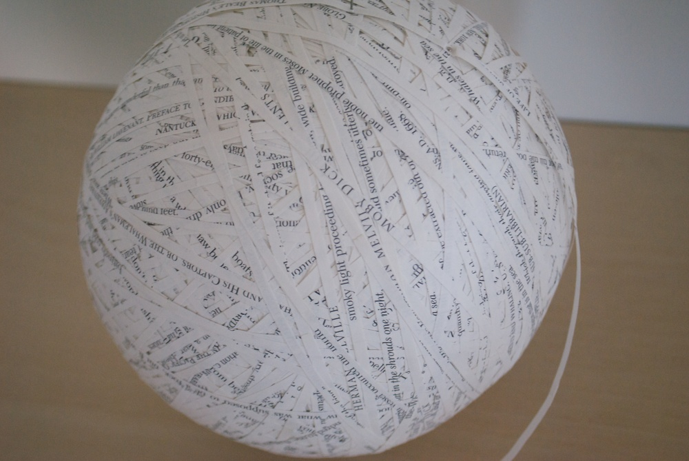 Moby Dick: a novel by Herman Melville,cut paper, 21 inches circumference, 2005-2006