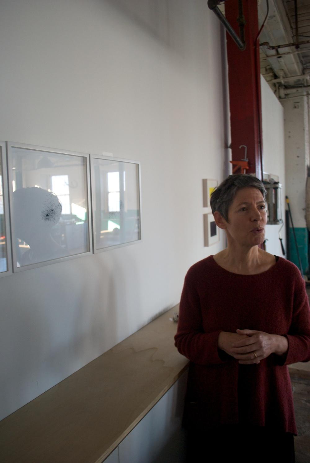 Stefana McClure in her Hudson Valley studio.