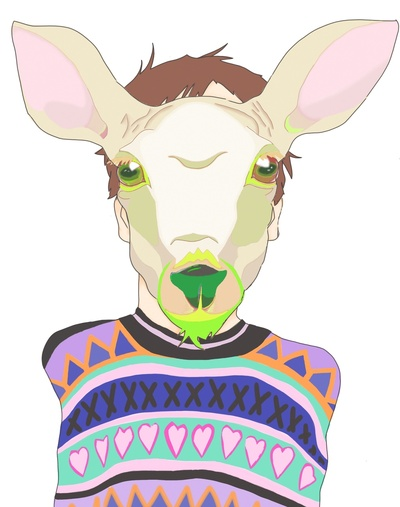 90's Deer by our cover artist, Hannah Brush. Check out her store!