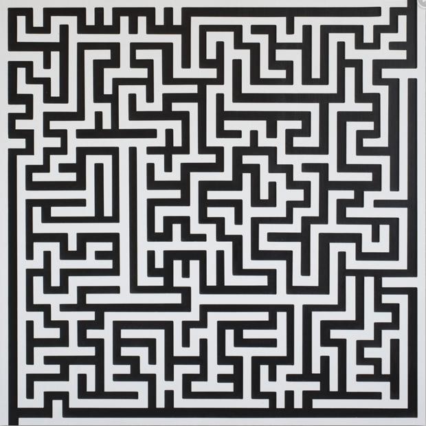 """Natasha Kohli """"Would 3""""  2014 acrylic on wood."""
