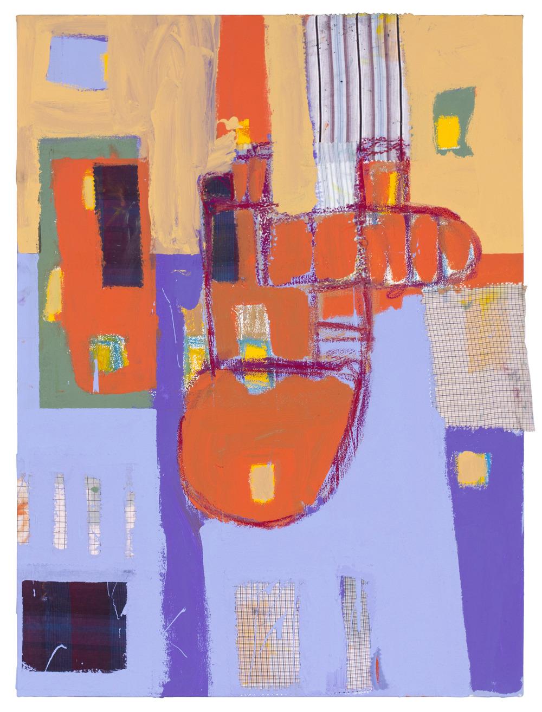 """""""#21"""" 2011 acrylic, oil + fabric on canvas. 28.5"""" x 38.5"""""""