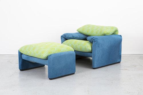Vico Magistretti's Maralunga Chair and Ottoman Set.jpg