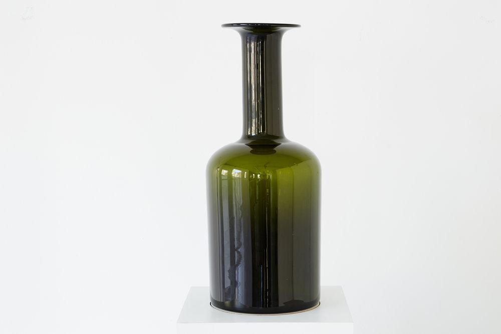 Glass Bottle Vase by Kastrup Holmegaard.jpg