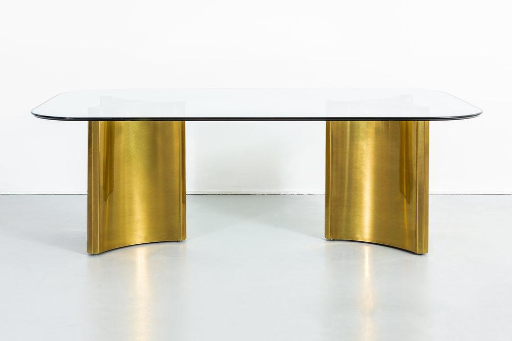 Mastercraft Brass Pedestal Table.jpg