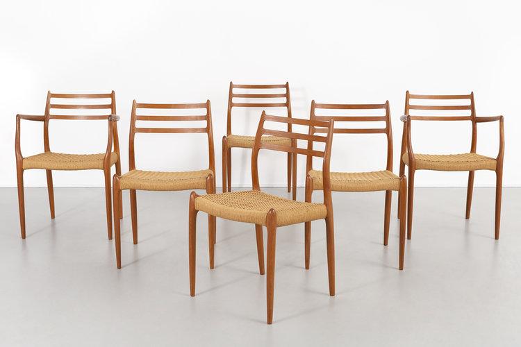 Set Of Niels Moller Mid Century Modern Dining Chairs Matthew