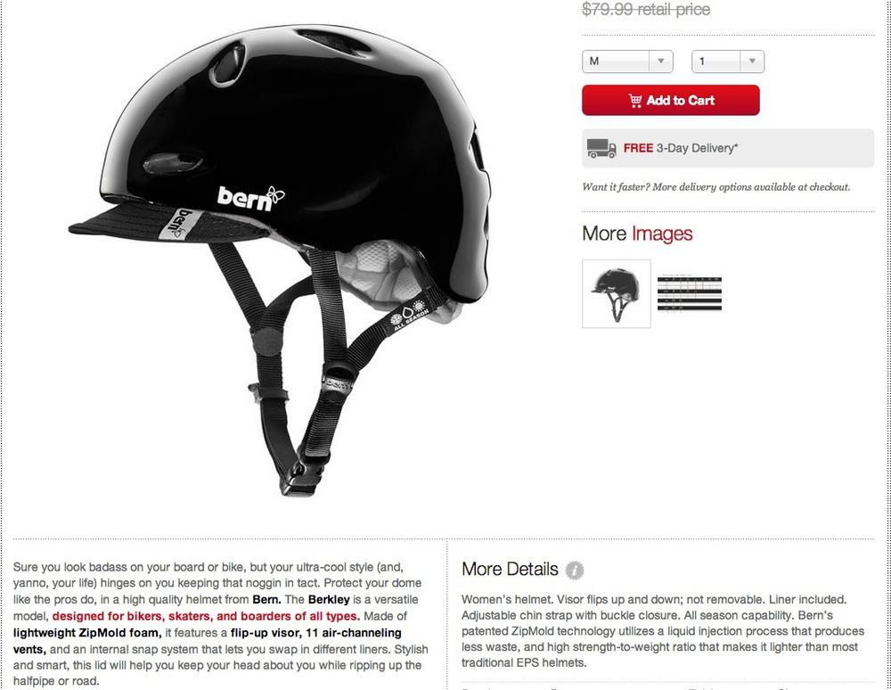 Fab.com Product Description: Bern Helmets
