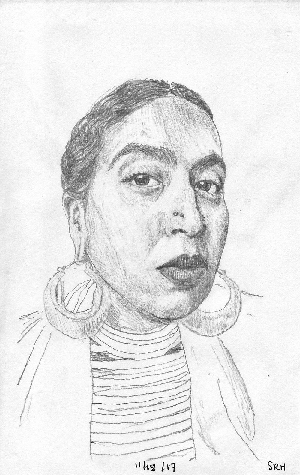 Briana Ureña-Ravelo is a 27 year old femme first generation Afro-Dominicana writer and poet based in West Michigan. She is a community organizer, intersectional womanist, freelance writer, artist, poet, activist, thinker, and dreamer. Her interests include music, language and words, anti-fascism and resistance, shows and the all-ages/punk scene, Afro-Caribbean spirituality and culture, radical and community politics, decolonization, social justice organizing and theory, fashion and clothes, cooking, body modifications, her calico cat Shampoo, and sweets.  Art by Sofia Ramirez Hernandez   briana@thesparrowsgr.com