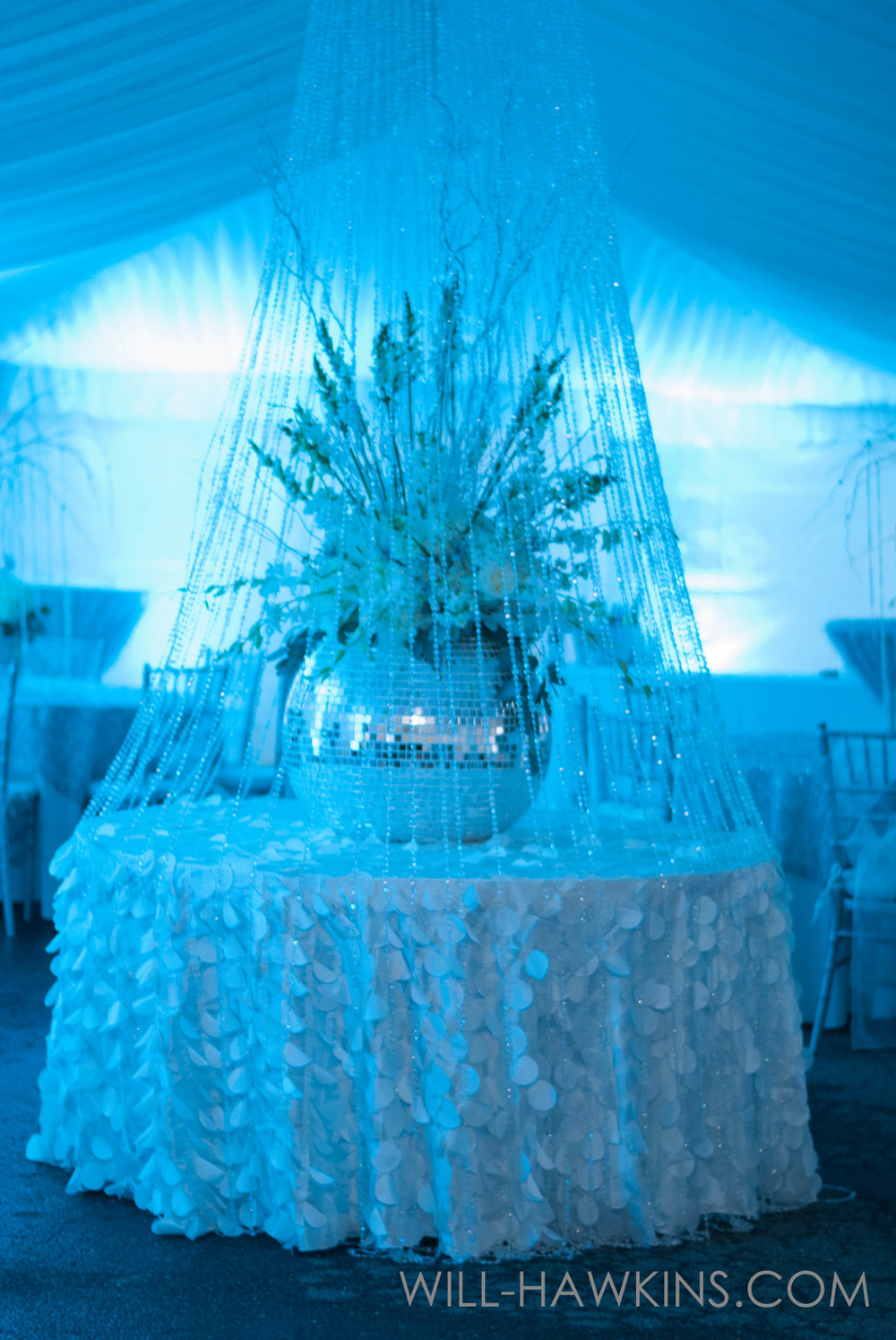 Stage Right Lighting Provided The Beautiful Lighting. This Centerpiece Was  Made By Botanique Events