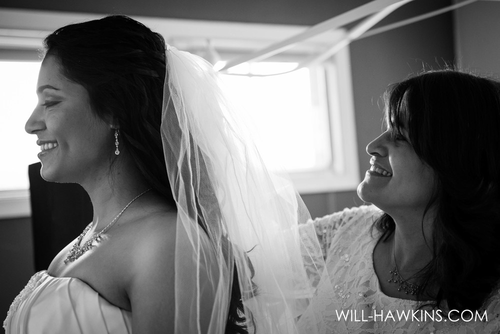 Ivelisse's Mother was so proud to see her daughter happy on her wedding day she couldn't stop smiling herself.