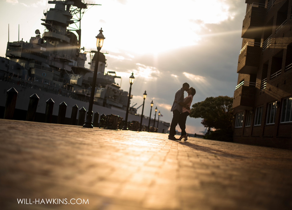 Teraya+Joe's Engagement Session in Downtown Norfolk, early May 2015.